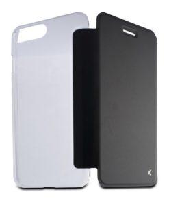 Capa tipo Livro para o Telemóvel Iphone 8 Plus Crystal Preto