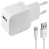 Carregador de Parede +Cabo Lightning MFI 2.4A USB iPhone Branco