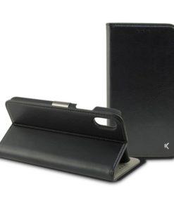 Capa tipo Livro para o Telemóvel Iphone Xs Max Preto