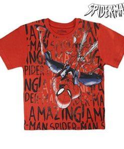 Camisola de Manga Curta Infantil Spiderman 72611