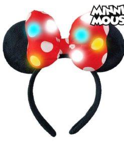 Diadema Minnie Mouse 71125 LED Preto Vermelho