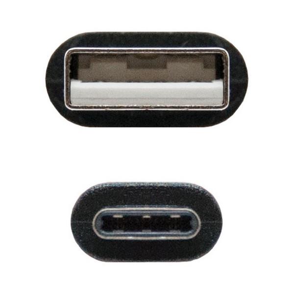 Cabo USB A para USB C NANOCABLE 10.01.210 Preto