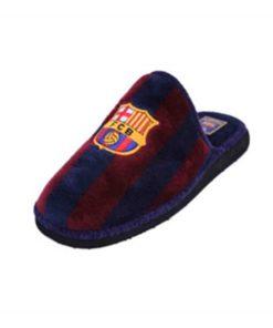 Pantufas Para Crianças Fútbol Club Barcelona Andinas 799-50 Azul Roxo Infantil