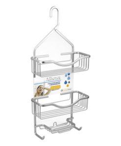 Suporte Organizador para Banheira Confortime Alumínio (27,5 x 12 x 63 cm)