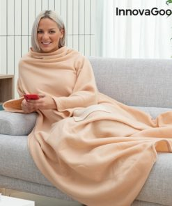 Cobertor com Mangas Individual com Bolso Central Faboulazy InnovaGoods