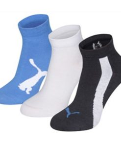 Meias de Desporto Puma LIFESTYLE (3 Pares) Azul Branco Azul escuro