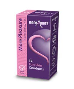 Preservativos Fun Skin (12 uds) MoreAmore 41330
