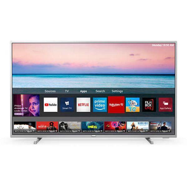 "Smart TV Philips 43PUS6554 43"" 4K Ultra HD LED WiFi Prateado"
