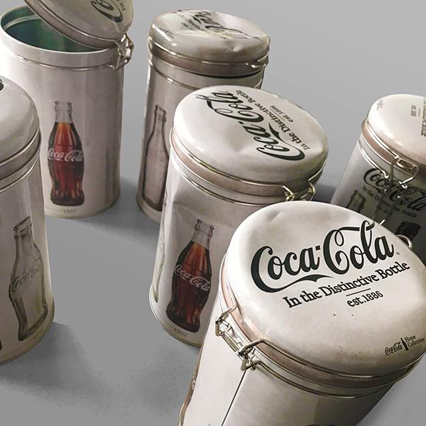 Lata de Metal Vintage Coca-Cola