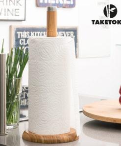 Porta Rolos de Cozinha em Bambu TakeTokio