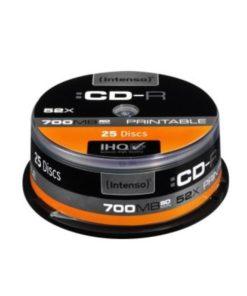 CD-R Printable INTENSO 1801124 52x 700 MB 25 pcs