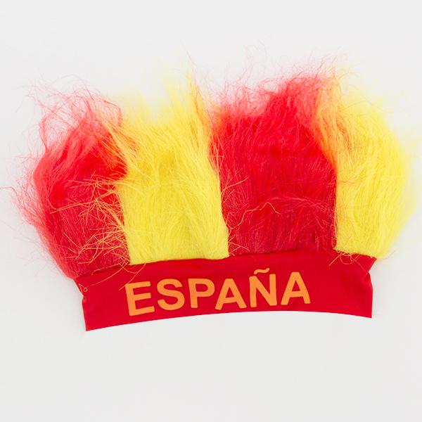 Peruca com a Bandeira Espanhola