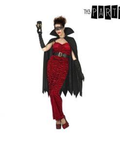 Fantasia para Adultos Vampira com capa Preta (3 Pcs)