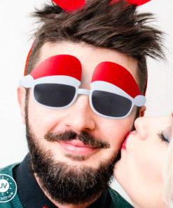 Óculos com Chapéu de Pai Natal 144802