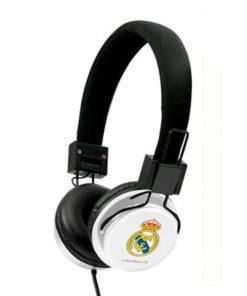 Auriculares de Diadema Real Madrid C.F. Branco Preto