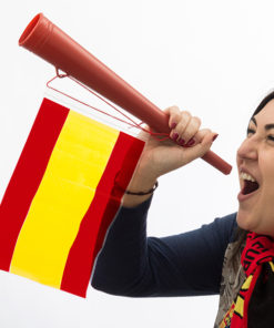 Vuvuzela com a Bandeira da Espanha