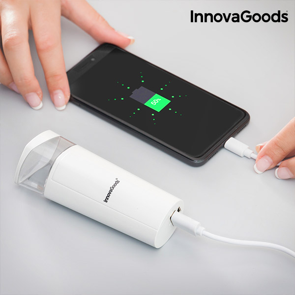 Atomizador Facial com Power Bank 2 em 1 InnovaGoods