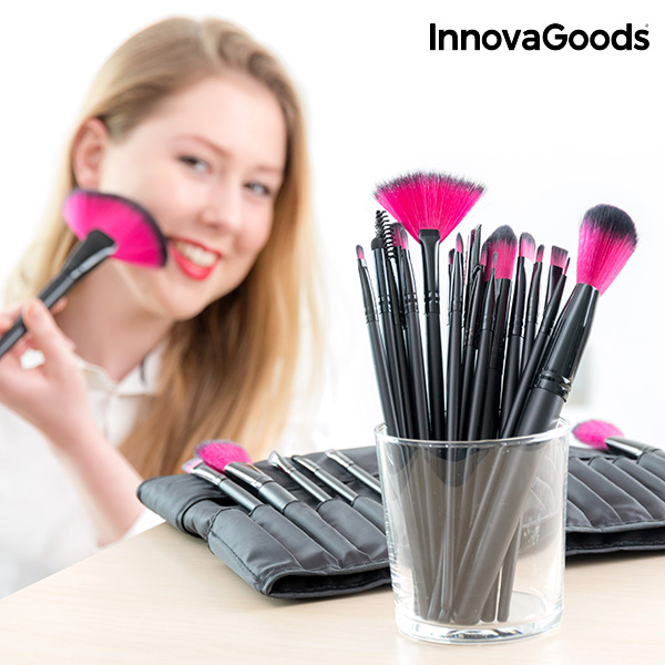 Conjunto de 24 Pincéis e Escovas de Maquilhagem InnovaGoods