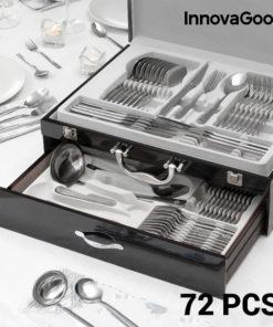 Talheres de Aço Inoxidável Cook D'Lux InnovaGoods (72 Peças)