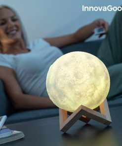 Lâmpada LED Recarregável Lua InnovaGoods