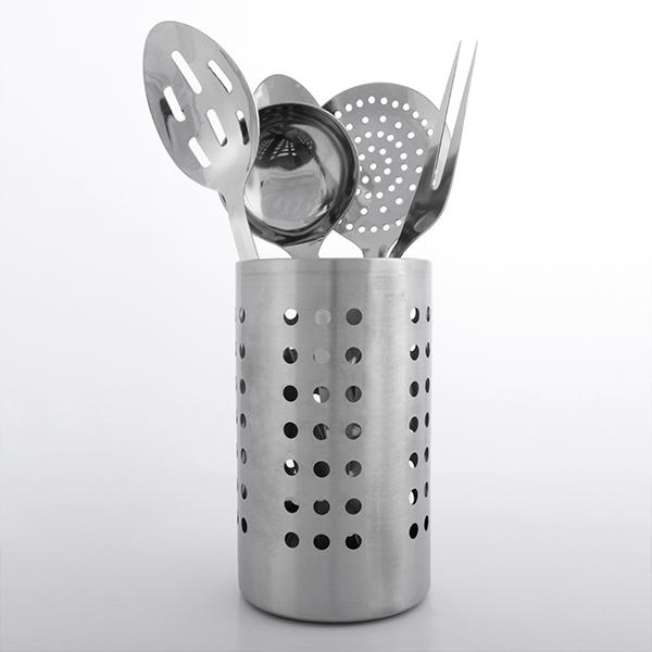 Conjunto de Utensílios de Cozinha em Aço Inoxidável