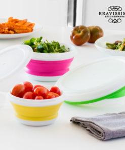 Recipientes para Comida Dobráveis Bravissima Kitchen (3 peças)