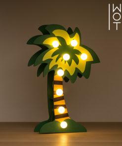 Palmeira Decorativa de Madeira Wagon Trend (8 LED)