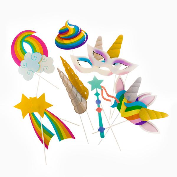 Acessórios para Photocall UnicornTh3 Party (Pack de 12)