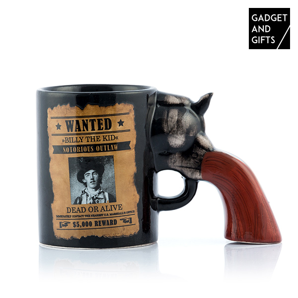 Caneca Revólver Wanted Gadget and Gifts