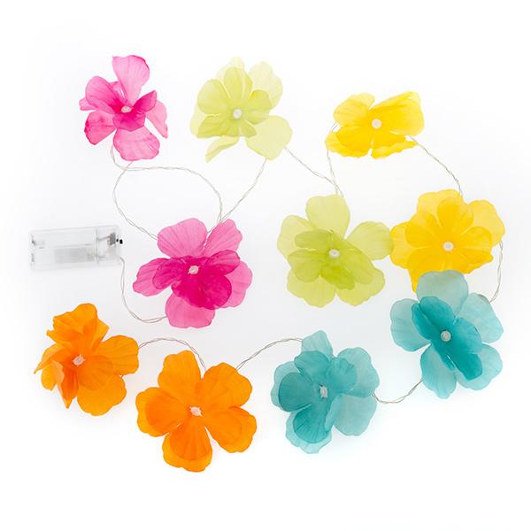 Grinalda LED de Flores Coloridas (10 LED)