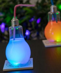 Copo Lâmpada com LED e Palhinha