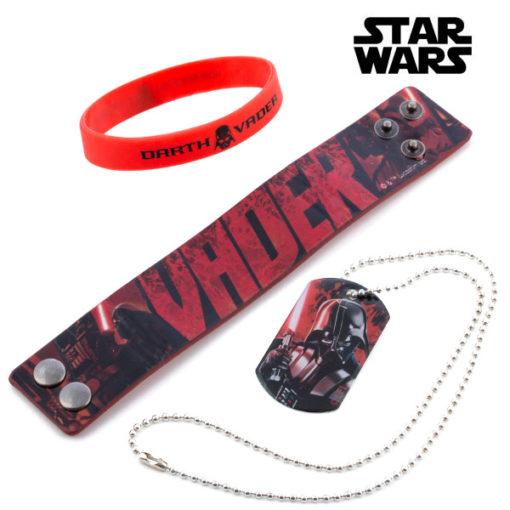 Pulseiras e Pendente Darth Vader (Star Wars)