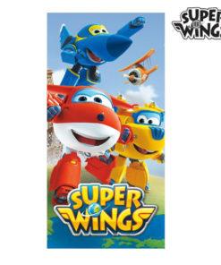 Toalha de Praia Azul Super Wings