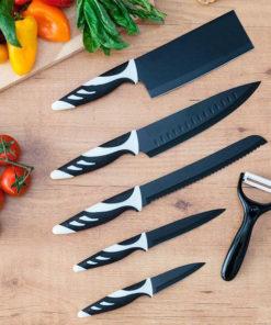 Facas Cecotec Top Chef Black C01024 (6 peças)