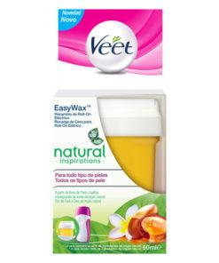 Recarga de Cera Natural Inspirations para Roll-On Veet Easy Wax