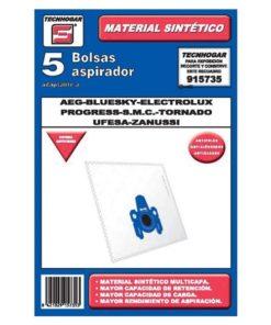 Bolsa Sobresselente para Aspirador Tecnhogar 915735 (5 uds)