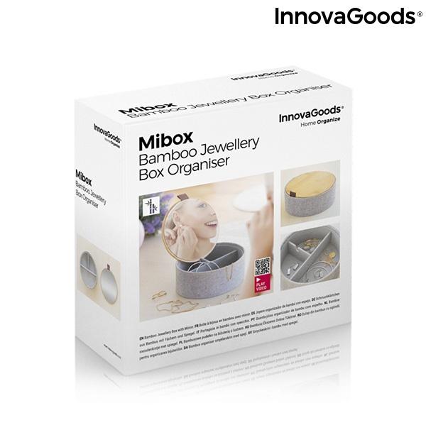 Caixa de Jóias em Bambu com Espelho Mibox InnovaGoods