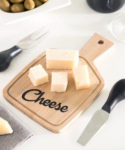 Tábua de Queijos & Facas de queijo Bamboo