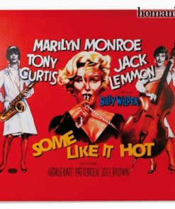 Foto de Marilyn Monroe Some Like It Hot em tela de tecido 60 x 60