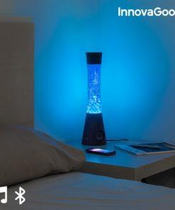 Candeeiro de Lava com Altifalante Bluetooth e Microfone InnovaGoods 30W