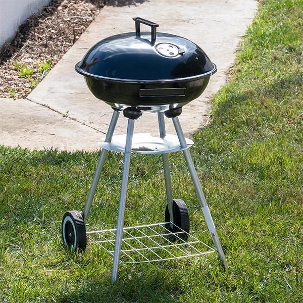Churrasqueira a Carvão com Tampa e Rodas BBQ Classics