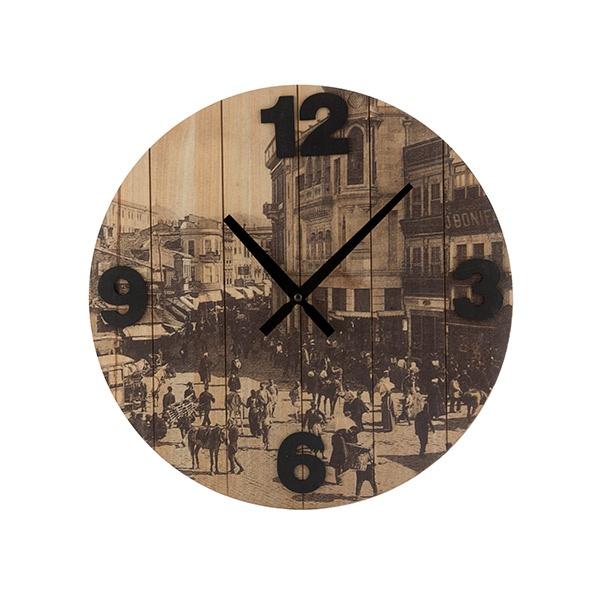 Relógio de Parede Cidades Vintage Coconut