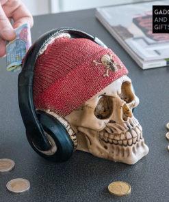 Mealheiro Caveira Pirata com Auriculares Gadget and Gifts