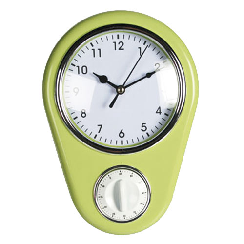 Relógio de Parede Vintage com Temporizador