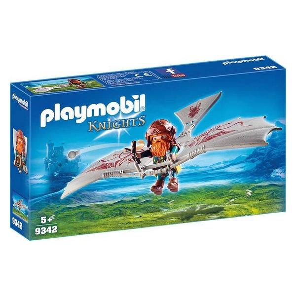 Playset Knights - Dwarf With Flying Machine Playmobil 9342