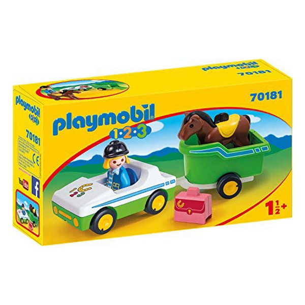 Playset 1.2.3 Horse Trailer Car Playmobil 70181 (5 pcs)