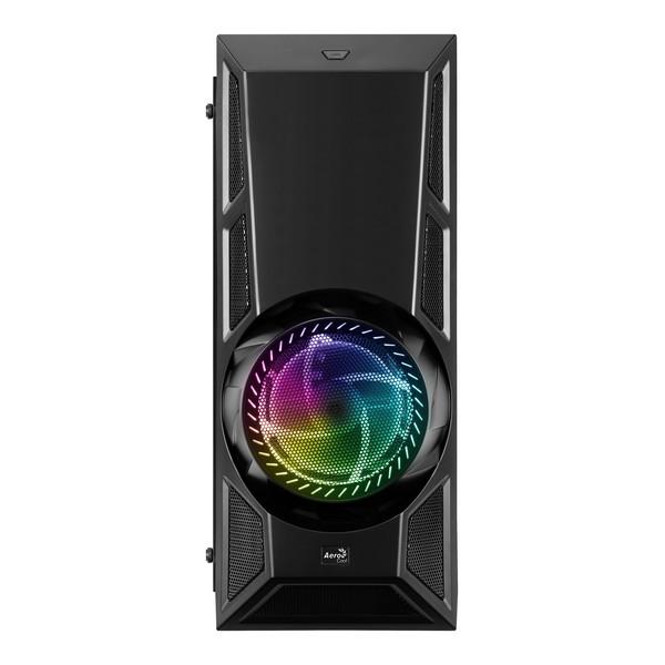 Caixa Semitorre Micro ATX / Mini ITX / ATX Aerocool Aero Engine RGB LED Preto