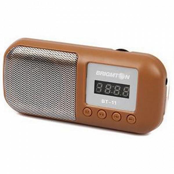 Altifalante Multimedia BRIGMTON 222999 3W Radio FM Micro SD Castanho