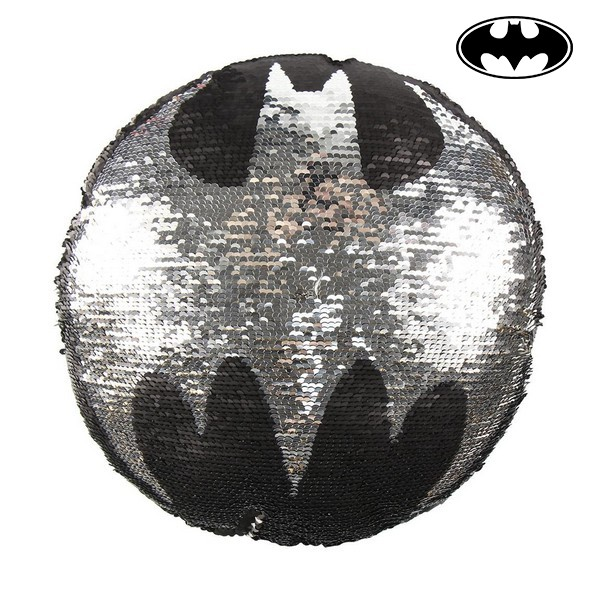 Almofada Sereia Mágica de Lantejoulas Batman 74489 Preto (30 X 30 cm)