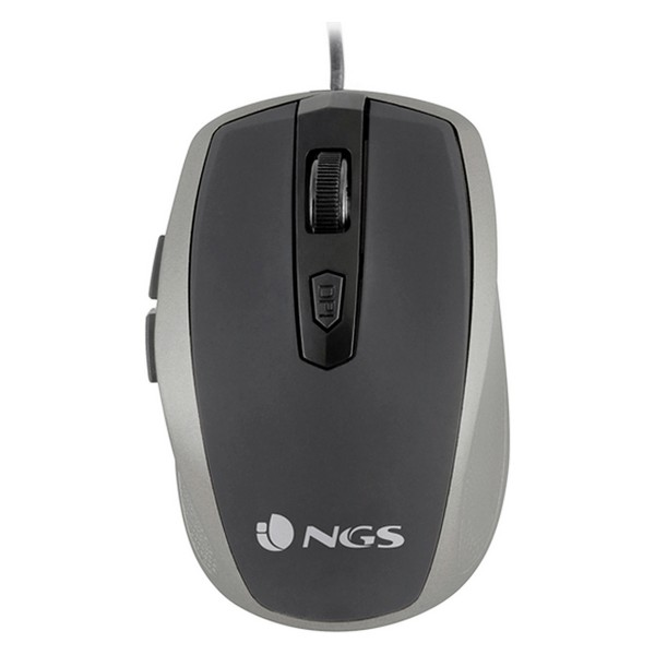 Rato Ótico NGS Wired Mouse 1600 dpi USB Cinzento